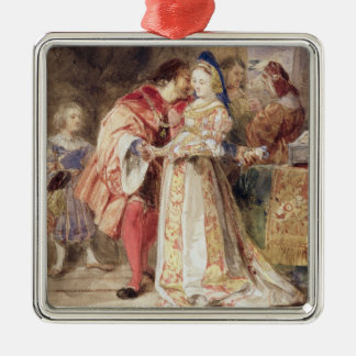 Portia and Bassanio, c.1826 (w/c, brown ink, bodyc Christmas Ornament