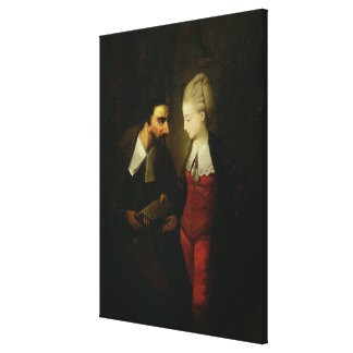 Portia and Shylock from 'The Merchant of Venice' A Canvas Print