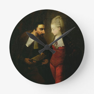 Portia and Shylock from 'The Merchant of Venice' A Round Clock