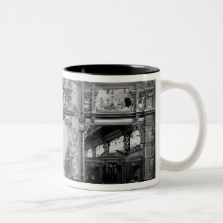 Portico of fabric at the Universal Exhibition Two-Tone Coffee Mug