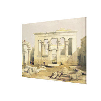 """Portico of the Temple of Kalabshah, from """"Egypt an Canvas Print"""