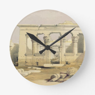 """Portico of the Temple of Kalabshah, from """"Egypt an Round Clock"""