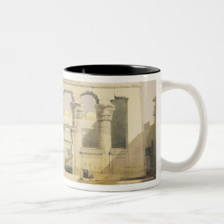 """Portico of the Temple of Kalabshah, from """"Egypt an Two-Tone Coffee Mug"""