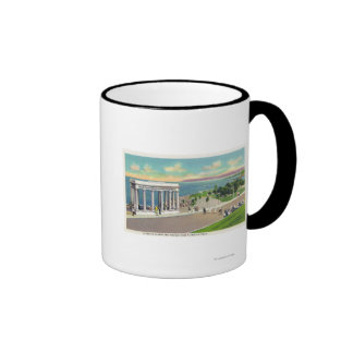 Portico over Plymouth Rock View of Plymouth Mugs