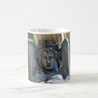 Portico with atlantes basic white mug