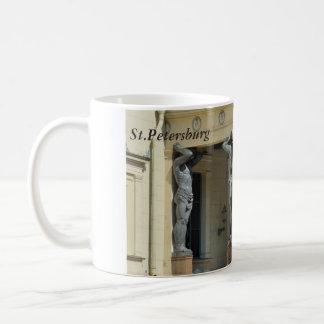 Portico with atlantes coffee mug
