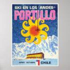 Portillo,Chile,Vintage Ski Poster
