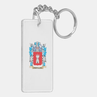 Portillos Coat of Arms - Family Crest Rectangle Acrylic Key Chain