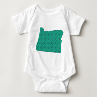 Portland Airport carpet Oregon map Baby Bodysuit