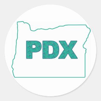 Portland Airport Carpet & Oregon Sticker