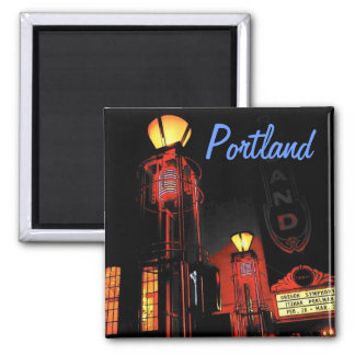 Portland at Night Magnet