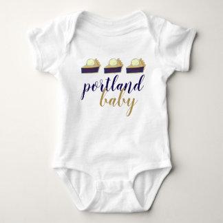Portland Baby Oregon Marionberry Berry Pie Slice Baby Bodysuit