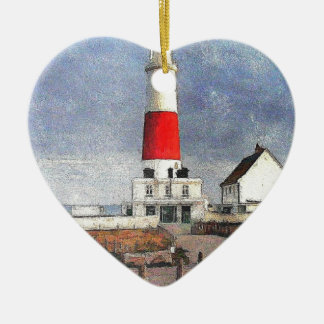 Portland Bill Lighthouse Christmas Ornament