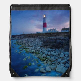 Portland Bill Lighthouse Drawstring Bag