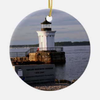 Portland Breakwater Light Christmas Ornament