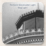 Portland Breakwater Light Maine Custom Coaster Set