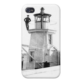 Portland Breakwater Lighthouse 2 iPhone 4 Cover