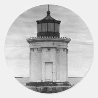Portland Breakwater Lighthouse 3 Round Stickers