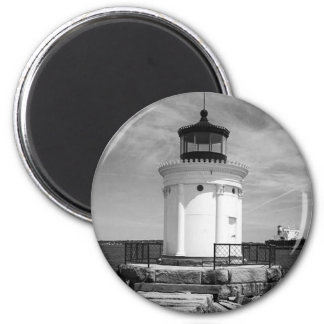 Portland Breakwater Lighthouse 6 Cm Round Magnet