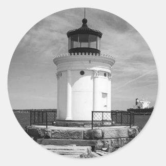 Portland Breakwater Lighthouse Round Sticker