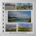 Portland Bridges Poster