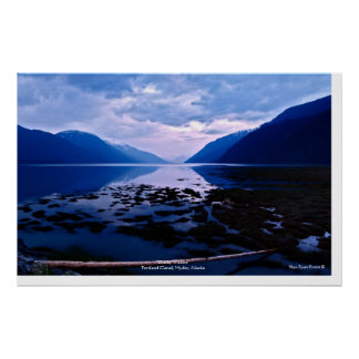 Portland Canal Hyder Alaska Nature Photo Poster