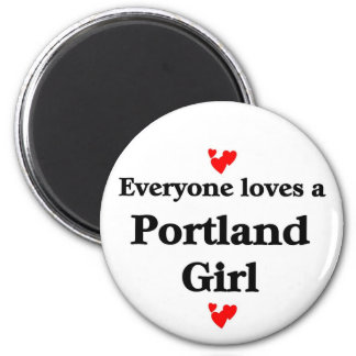 Portland Girl 6 Cm Round Magnet