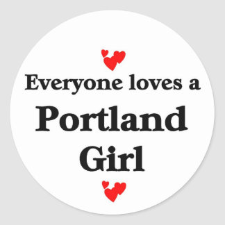 Portland Girl Round Sticker