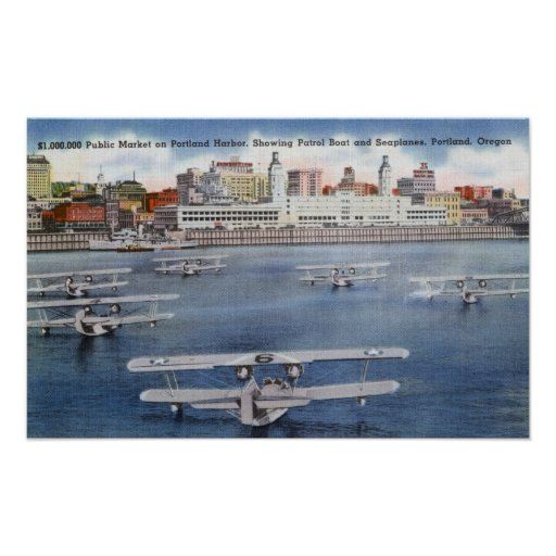 Portland Harbor View of the Public Market Print