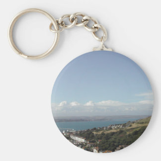 Portland Harbour. Dorset, UK. Basic Round Button Key Ring