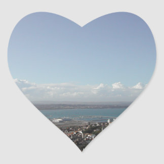 Portland Harbour. Dorset, UK. Heart Sticker