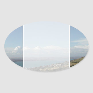 Portland Harbour. Dorset, UK. Oval Sticker