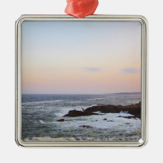 Portland Head and view to Atlantic Ocean Christmas Ornament