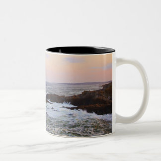 Portland Head and view to Atlantic Ocean Two-Tone Coffee Mug