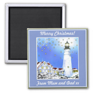 PORTLAND HEAD LIGHT BY BRIGID O'NEILL HOVEY #4 FRIDGE MAGNET