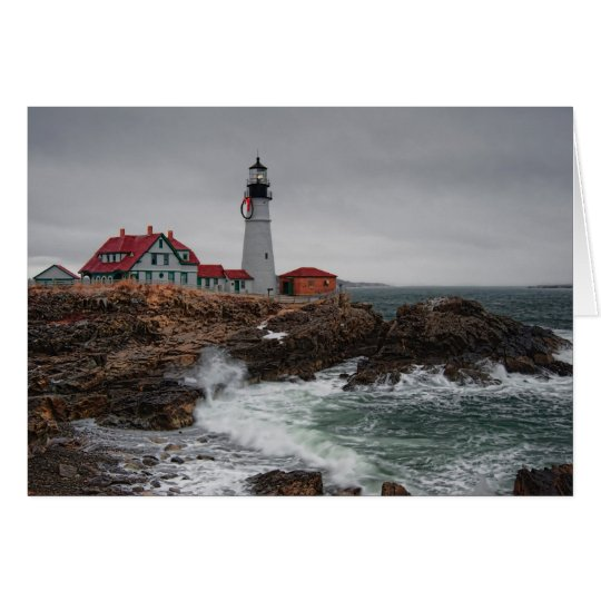 Portland Head Light Christmas Card