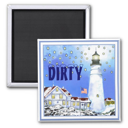 Portland Head Light Dishwasher Magnet Dirty #2