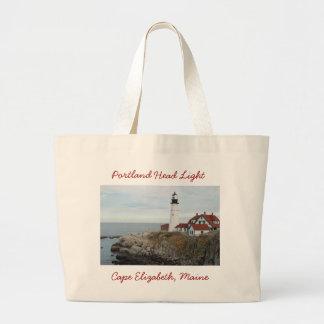 Portland Head Light Jumbo Tote Bag