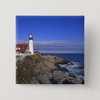 Portland Head Light Lighthouse Maine 15 Cm Square Badge