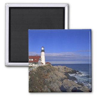 Portland Head Light Lighthouse Maine Square Magnet