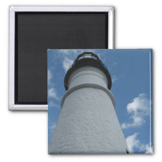 Portland Head Light Lighthouse Square Magnet