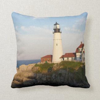 Portland Head Light Lighthouse Throw Cushions