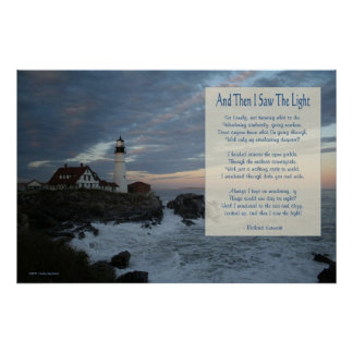 Portland Head Lighthouse/ And then I saw the light Poster