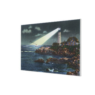 Portland Head Lighthouse at Night Canvas Print