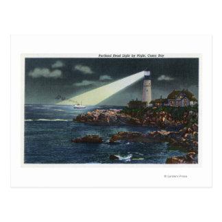 Portland Head Lighthouse at Night Postcard