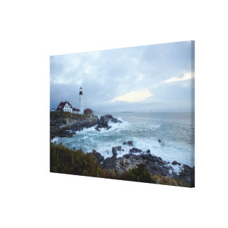 Portland Head Lighthouse at Sunrise Canvas Print
