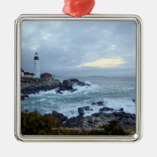 Portland Head Lighthouse at Sunrise Christmas Ornament