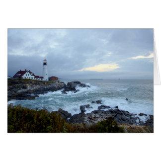 Portland Head Lighthouse at Sunrise Greeting Card