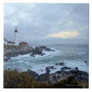 Portland Head Lighthouse at sunrise Tile