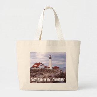 Portland Head Lighthouse Canvas Bags